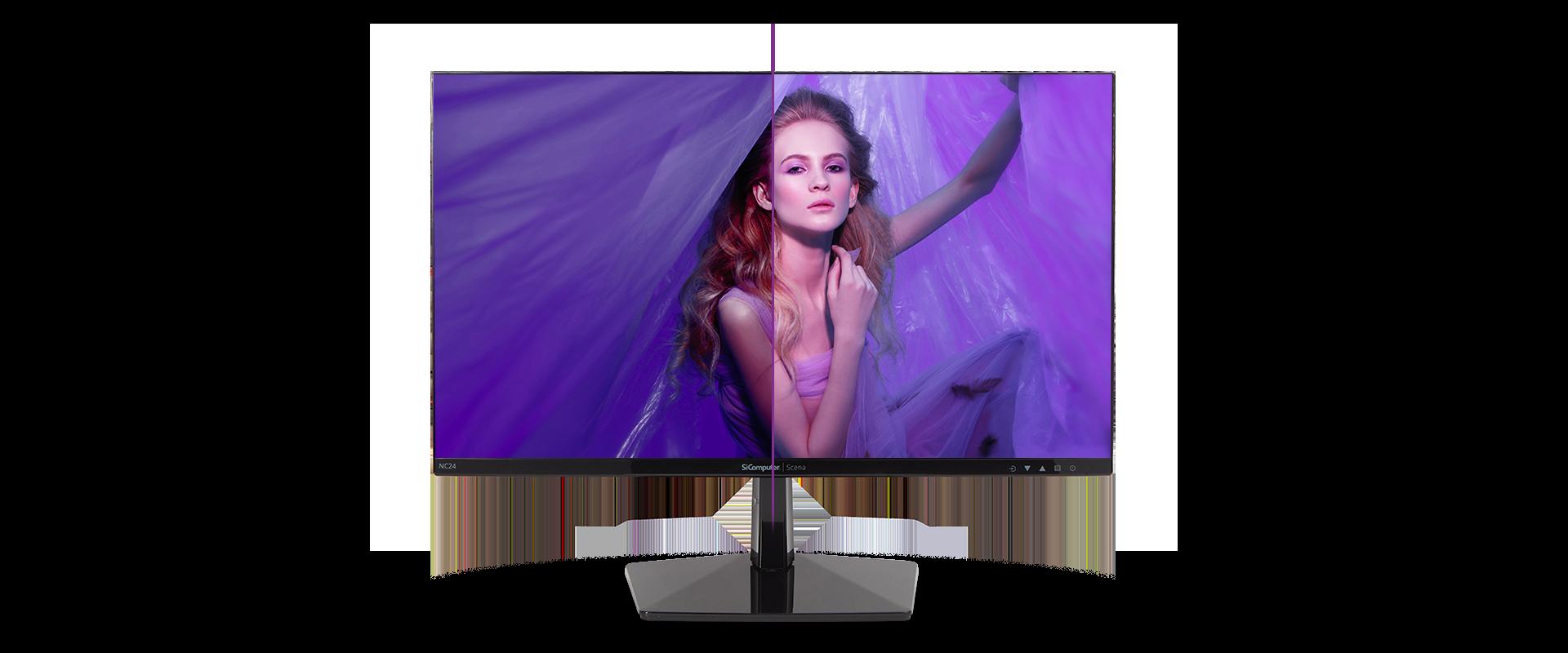 Monitor Scena NC24 con modalità Low Blue Light integrata