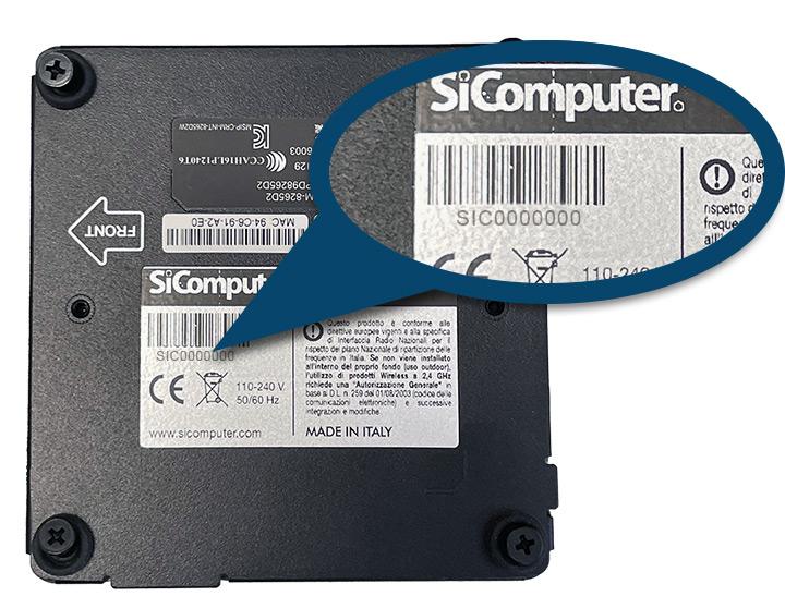 SiComputer- Numero di serie