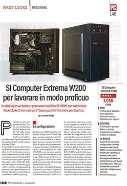 La recensione dell'Extrema Workstation W200 su PC Professionale di Maggio 2021